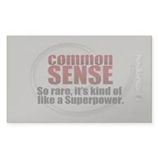 Common Sense Decal