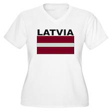 Latvia Flag Plus Size T-Shirt