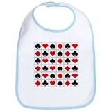 Playing card suits pattern Bib