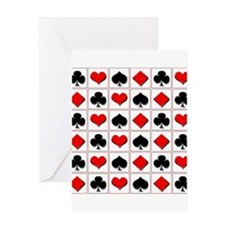 Playing card suits pattern Greeting Card