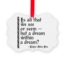 POE A Dream Within Ornament
