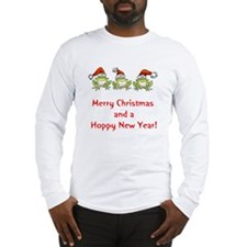 Happy Froggy Christmas Long Sleeve T-Shirt