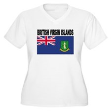 British Virgin Islands Flag Plus Size T-Shirt