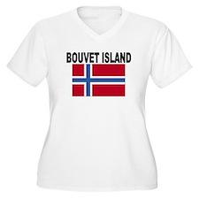 Bouvet Island Flag Plus Size T-Shirt