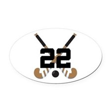 Field Hockey Number 22 Oval Car Magnet