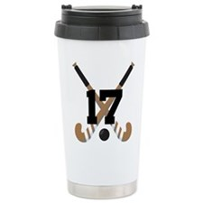 Field Hockey Number 17 Ceramic Travel Mug