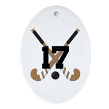 Field Hockey Number 17 Ornament (Oval)