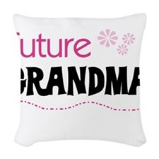 FUTUREGRANDMAPINK.png Woven Throw Pillow