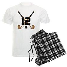 Field Hockey Number 12 Pajamas