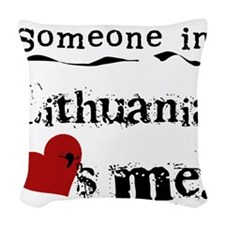 LOVESMELITHUANIA.png Woven Throw Pillow