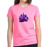 ABSTRACT PURPLE BEAR PAW Tee
