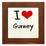 I Love Gurney Framed Tile