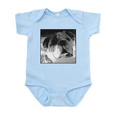 Bulldog in B&W Infant Bodysuit