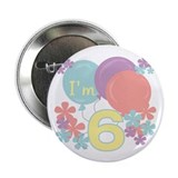 6th Pastel Birthday Button