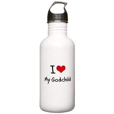 I Love My Godchild Water Bottle
