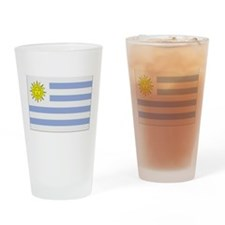 Uruguay Flag Drinking Glass
