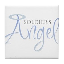 soldiers angel.png Tile Coaster