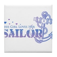 girlsailor.png Tile Coaster