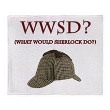 What Would Sherlock Do? Throw Blanket