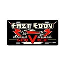 Fazt Eddy Speed Shack Service Aluminum License Pla