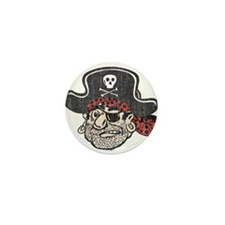 Throwback Pirate Mini Button (100 pack)