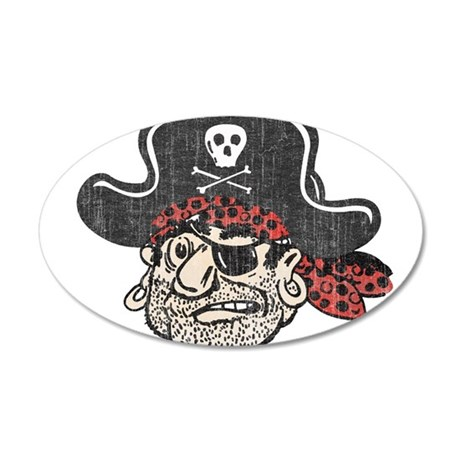 Throwback Pirate Wall Decal