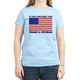 Thank a Vet Women's Pink T-Shirt
