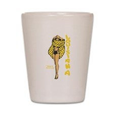 Vintage Louisiana Pinup Shot Glass