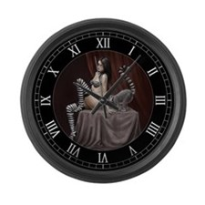lemur girl 2 Large Wall Clock