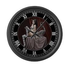 lemur girl 2 Large Wall Clock