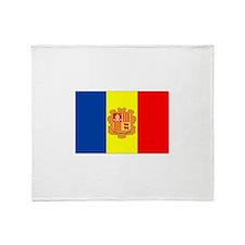 Andorra Flag Throw Blanket