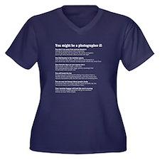 Photographer Plus Size T-Shirt