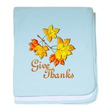 Give Thanks baby blanket