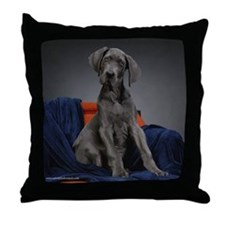 Funny Dane Throw Pillow