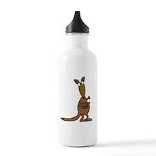 Funky Kangaroo and Babies Water Bottle