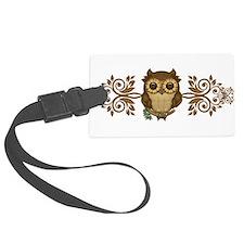 Cute Brown Owl Luggage Tag