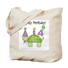 Turtle 4th Birthday Tote Bag