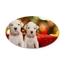 Christmas Argentine Dogos Wall Decal