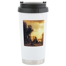 Yosemite Indian Encampment Ceramic Travel Mug
