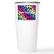 Custom Rainbow Leopard Travel Mug