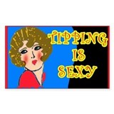 Tipping is Sexy Cheesecake Tipjar Decal