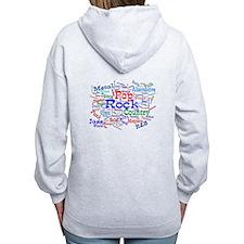 Music Cloud Zipped Hoodie Back Design