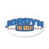 The Great Jordyn Oval Car Magnet
