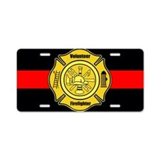 Volunteer Firefighter Aluminum License Plate
