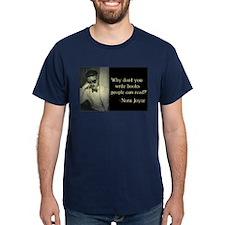 Joyce Quote Navy T-Shirt