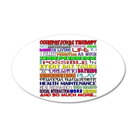 OT Words 35x21 Oval Wall Decal