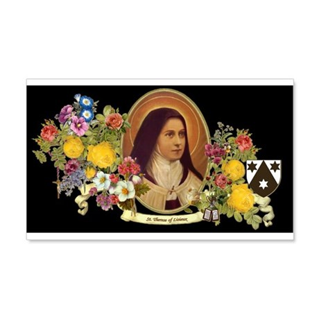 St. Therese of Lisieux-black background Wall Decal