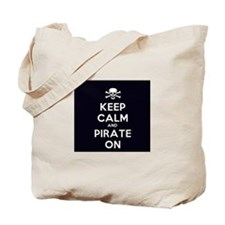 Keep Calm and Pirate On Tote Bag