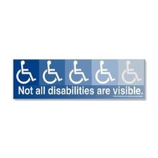 Cute Handicapped Car Magnet 10 x 3