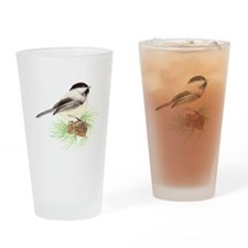 Chickadee Pine.png Drinking Glass